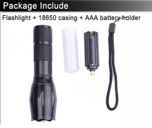 Hot selling 3800LM 10W waterproof zoomable led flashlight high power portable led hand lamp for 18650 and AAA free shipping(China)