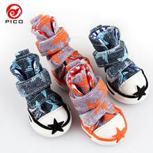 Hot sale pet dog shoes cute stars puppy boot outdoor Casual canvas Sneakers Teddy small dogs shoes ZL248