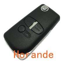 Folding Flip Remote Control Key Blank Shell Cover for Mitsubishi Car Pajero Triton Lancer Evo 3 Button Key Case Fob