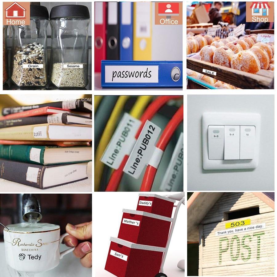 Multicolors 24mm Tze251 Compatible for Brother p-touch label printers Tze tape tze-251 Tz251 tze151 tze451 tze551 tze651 tze751