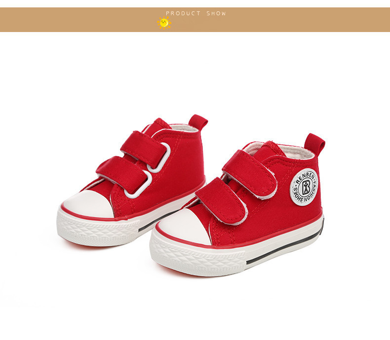 Baby shoes Girl Children Canvas shoes Boys 17 Spring Autumn Fashion High Cotton-made Baby girl little kids shoes 23