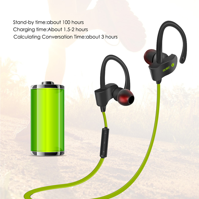 high quality bluetooth 4.1 noice cancelling earphone sweatproof fone de ouvido blutooth for samsung mobile phone