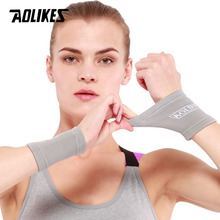 AOLIKES 1Pair Wrist Support Protect Wristband Unisex Bracers for Basketball Football Running(China)