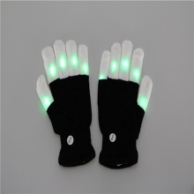 LeadingStar 6Modes Magic Flashing Finger Lighting LED Colorful Gloves Unisex Light Up Glow Stick Gloves With 2 CR2032 Batteries