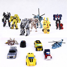 7pcs/lot Mini Transformation Kids Classic Robot Cars Toys Action & Toy Figures Birthday Christmas Gift For Children(China)