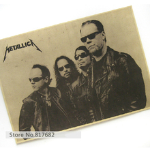 Vintage Posters Kraft Paper Painting Star Metal Band METALLICA Poster Hanging Picture Photo Printed Draw Hanging Picture