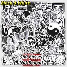 Buy New 150 PCS Black White Sticker Car Styling Bike Luggage JDM Doodle Cool Vinyl Decals Laptop Toy Home Decor DIY Stickers for $7.27 in AliExpress store