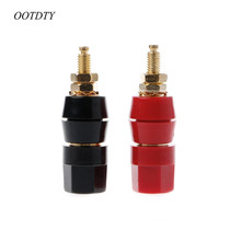OOTDTY 1 pair (black + red) Terminals Connector Red Black Speaker Amplifier Terminal Binding Post Banana Plug Jack(China)