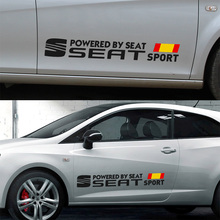 1 Pair Customization SEAT Door Car Stickers Decal Car-Styling For seat leon ibiza altea cordoba toledo car accessories