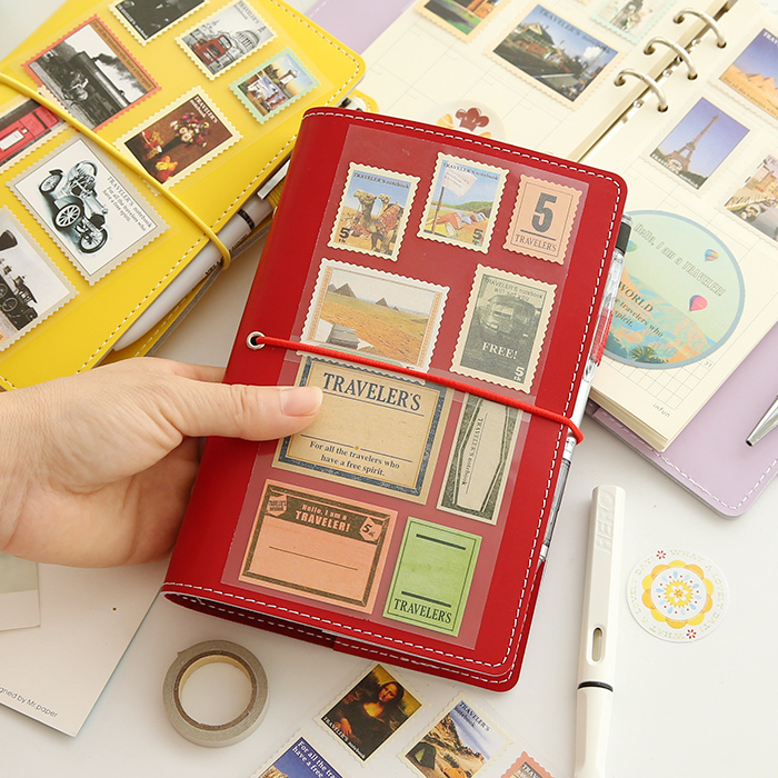Macaron a6 books loose-leaf faux leather cover diary DIY notebook notepad planner travel jourmal Infun student memo schedule<br><br>Aliexpress