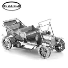 FORD TIN LIZZY model kit laser cutting 3D puzzle DIY metal car model jigsaw free shipping best gift for kids educational toys