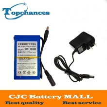 Lipo Battery Portable 4800mAh DC 12V 12.6V Super Rechargeable Pack EU/US plug adaptor for CCTV camera video recorde