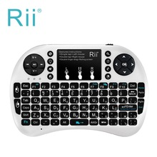 Backlit Gaming Keyboard Rii mini i8+ 2.4Ghz RF wireless Russian Keyboard with touchpad mouse Backlit for PC Smart/Android TV Box(China)