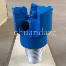 76mm Diamond head pdc drill bit Coal Ore Mining Oil Well Drilling 3 wing Coring Drag drill bits(China)