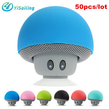 DHL 50PCS/LOT Mushroom Mini Bluetooth Speaker Waterproof Portable Stereo Wireless Music Speaker for iPhone iPad Mobile Phone
