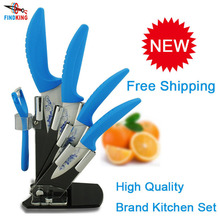 "Beauty Gifts high quality 6 piece a set kitchenware Zirconia kitchen Ceramic Knife tool Set 3"" 4"" 5"" 6"" inch + Peeler+Holder"