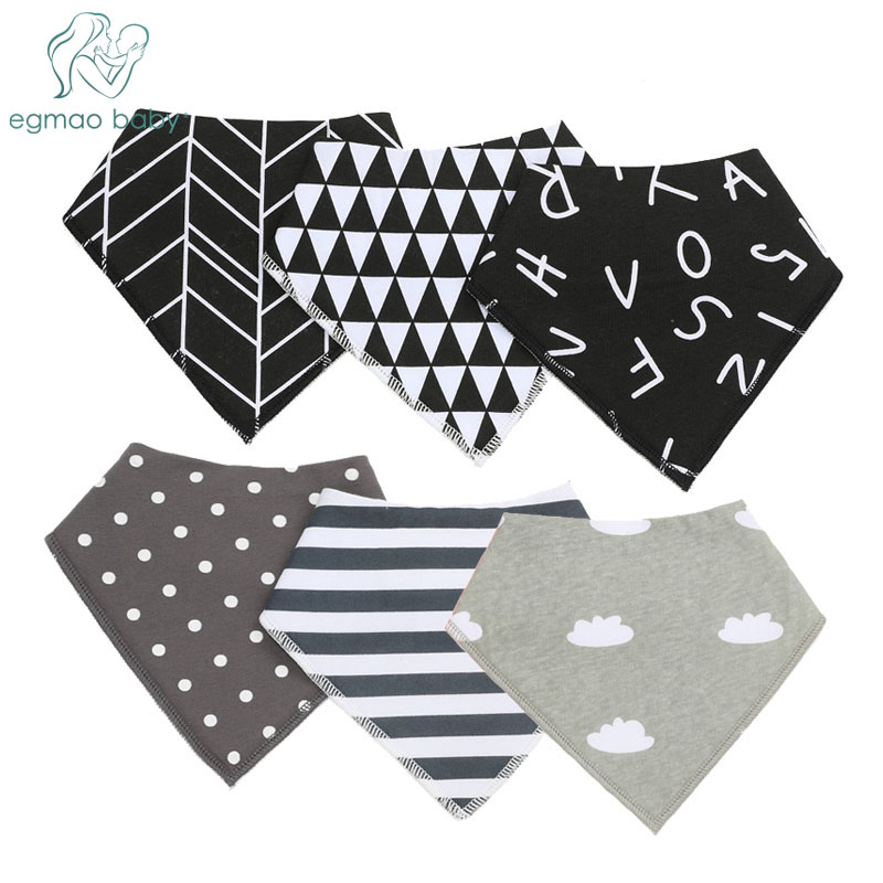 2Pcs Baby Bibs Boys Accessories Newborn Girls Burp Bandana Cotton Soft Toddler Triangle Scarf Infant Saliva Towel Newborn Bibs(China)