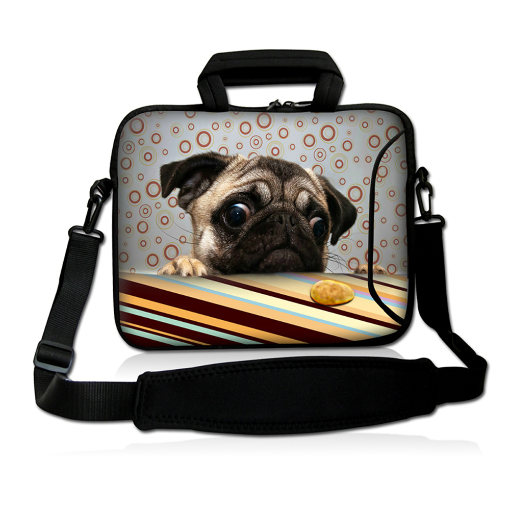Pitiful puppy Style Neoprene 14 inch 14.1 14.2 14.4 Notebook Shoulder Strap Messenger Carry Handle Cases Cover Pouch Protector<br><br>Aliexpress