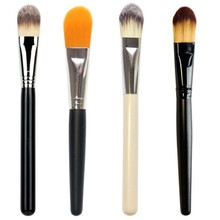 DIY Mask Brush Wood Handle Facial Face Skin Care Mud Soft Applicator Mixing Brush New Design(China)