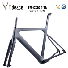 2018 NEW arrival Aero Road or MTB Bike Frame S/M/L size Cyclocross Frame Disc Bike Carbon Gravel frame QR or thru axle(China)