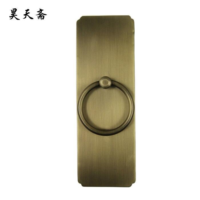 [Haotian vegetarian] antique bronze door knocker ring classic straight copper handle HTA-136 Large<br><br>Aliexpress