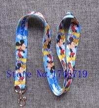 Retail 1 pcs Popular Mickey  Straps Lanyard  ID Badge Holders Mobile Neck Key chains For Party Gift PO-41