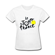 Women T Shirts Round Collar Le Tour de France French bicycle race Custom Work Shirt Cool Shorts T-Shirt Women Floral Shirts