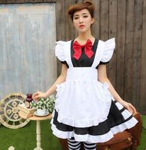 japan maid dress sissy maid cosplay chinese maid clothes cute maid dress halloween costumes for women(China)