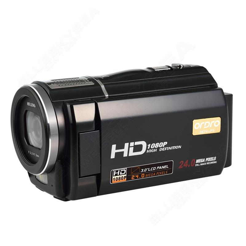 """ORDRO HDV-F5 1080P Digital Video Camera Max 24MP 16X Anti-shake 3.0"""" Touch Screen LCD Camcorder DV With Remote Controller 14"""