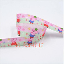 Wholesale High Density 25mm Heat Transfer Piggy Sling Polyester With Packaging Tape Wedding Gifts Ribbon 5 Img