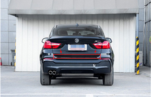 Auto Car Rear Trunk Lid Cover Trim Stainless Steel For BMW X4 2014 2015(China)