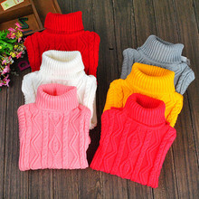 Toddlers Sweaters For Girls Boys Clothing Winter Spring Turtleneck Sweaters Baby Knitwear Infants Tops 18M 24M 2 4 6 8 10 12 14Y(China)