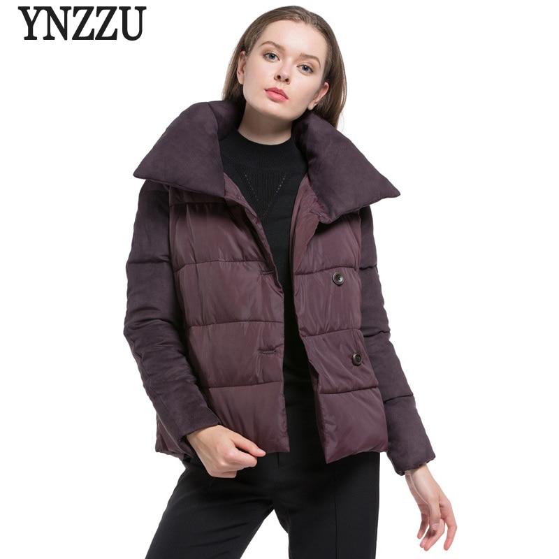 YNZZU 2017 Vintage Women Winter Jacket Casual Short Down Parkas Jacket Warm Long Sleeve Female Cotton Coats High Quality YO353Îäåæäà è àêñåññóàðû<br><br>