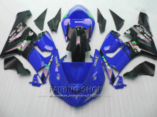 Blue +sticker ZX6r 05 06 2005 2006 Injection mold Fairings For Kawasaki Ninja Fairing kit v61