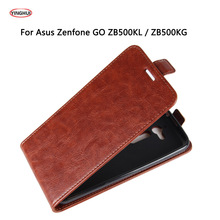 YINGHUI For Asus ZenFone Go ZB500KL Case 5.0 Wallet PU Leather Back Cover Phone Case For Asus Go ZB500KG Flip Protective Bag(China)