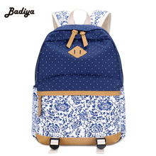 Daily Traveling Women Backpack Portable Zipper Soild Canvas Back Pack Ultralight Preppy Shoulder Bags