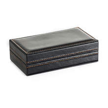 New Arrival Leather Jewelry Display Gift Box Cufflinks Box craft Gift Cuff links packing case