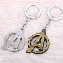 Movie Jewelry Marvel Super Heroes The Avengers Logo Style Metal Pendant Keychains Letter A Key Chain