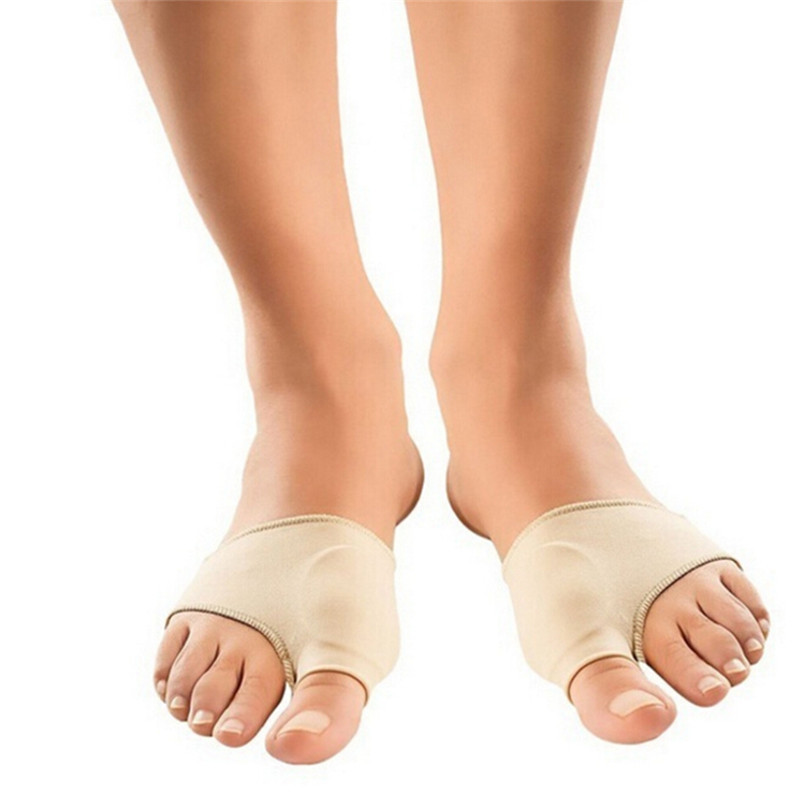 1 Pair Protector Silicone Gel Sleeve Hallux Valgus Corrector Overlapping Big Toe Orthopedic Toe Separator Foot Care Tools