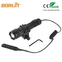 Boruit 1200LM XPE LED Flashlight White Light Torches For Fishing Hunting Flashlamp lanterna torch With 18650 Battery Gun clip