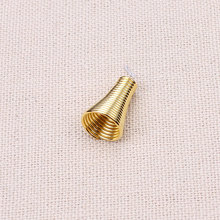50pcs/lot 8*12mm Gold Spring beads caps metal tube Caps DIY Jewelry Accessories Findings(China)