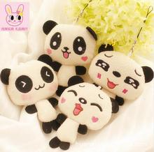 4PC 12cm Kawaii Lover Couple Valentine's Day Gift Novelty Mascot Doll Toy Plush Papa bear Panda Pendant For Mobile Phone Charm(China)