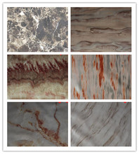Latest style oil skin marbled PVC leather thickness 0.7mm decorative marble artificial leather fabric stone pattern material(China)