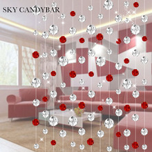 SKY CANDYBAR 10 meters Crystal bead curtain For living room partition renovation Festive fashion wedding decoration curtains(China)