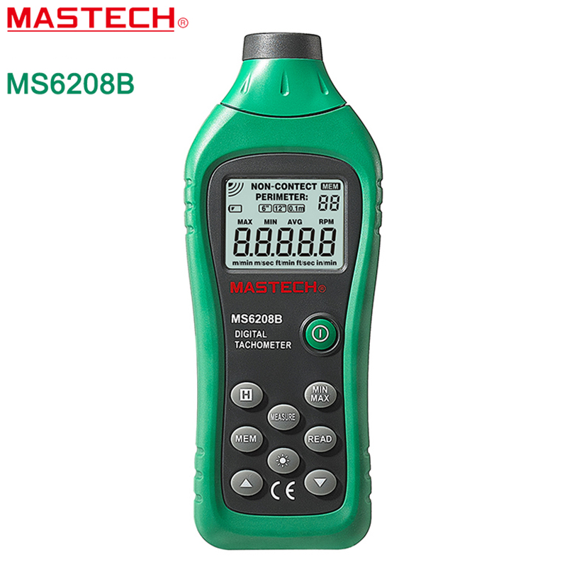 MASTECH MS6208B Non-contact Tachometer RPM Meter With 50-99999RPM Rotation Speed Range Digital Laser Non contact Tacometro<br>