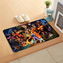 F627m4 Free Shipping Custom Anime Pokemon DoorMat Art Design Pattern Printed Floor Hall Bedroom Cool Pad Fashion Rug #3(China)
