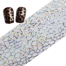 100cmx4cm Glitter Transfer Foils Polish Nail Art Salon Stickers Decals Beauty Tips Decoration for Nails Tools LAXK17