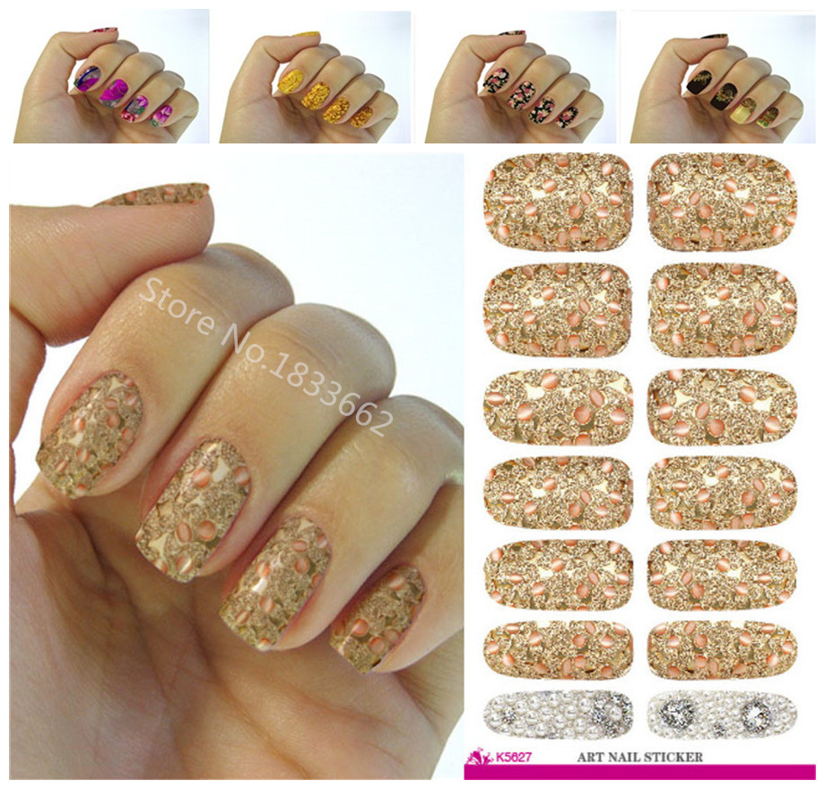 Fashionable small broken flower decoration nail decal art nail stickers decoration simple transfer foil k627(China (Mainland))