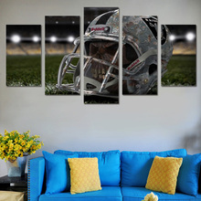 HD Printed 5 Piece Skull Canvas Painting Wall Pictures for Living Room Modern Head Baseball Helmet Poster Free Shipping ny-5998