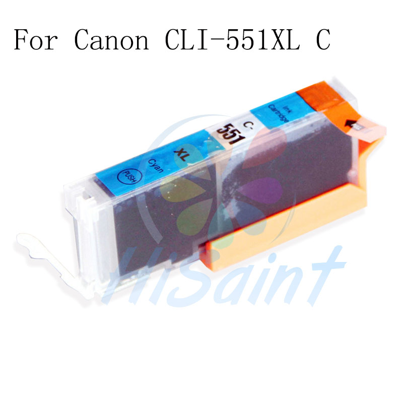 For HP CLI-551XL CLI551 551 C Ink Cartridge Hot Sale for PIXMA IP7250/MG5450/MG6350/MG7150/MG6450 Verkauf mit chip Low price<br><br>Aliexpress